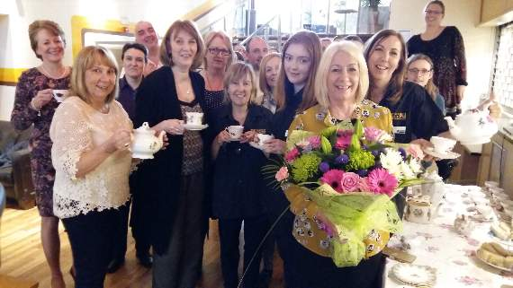 Surprise party held to celebrate box office manager's 30 years at Queen's Theatre in Hornchurch