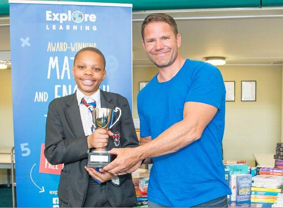 Young writer studying in Dagenham receives top literary prize from Steve Backshall in surprise presentation